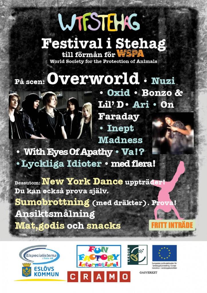 Affisch för välgörenhetsfestival