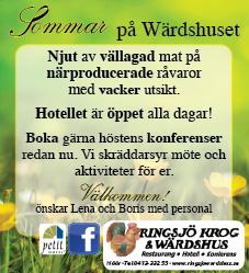 Somrigt hos både ebba kommunicerar och Ringsjö Wärdshus