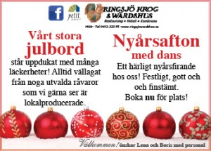 ebba kommunicerar formger annonser för Ringsjö Wärdshus