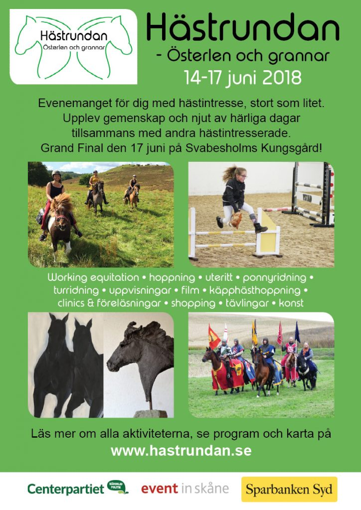 Affisch för Hästrundan 14-17 juni 2018